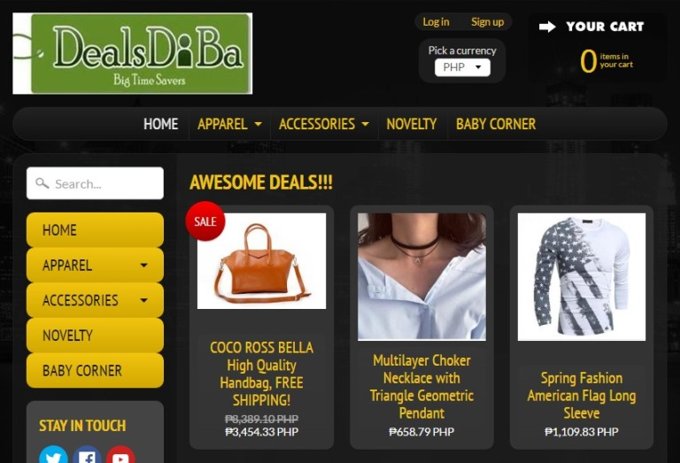 Dealsdiba Home Page
