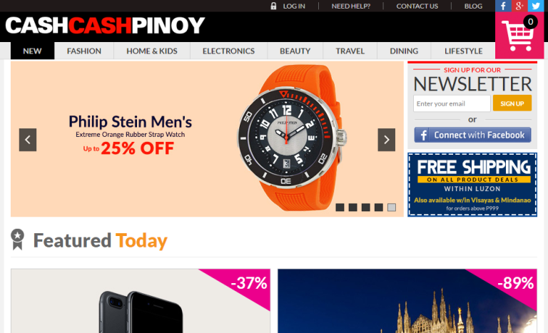Cash Cash Pinoy Home Page Screenshots