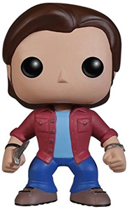 Booblehead - Sam of Supernatural with knife, in red jacket and blue pants